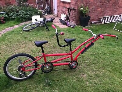Phillips Double / Tandem Tag-along Trailer Bike - Red - Ride With 2 Kids • 50£
