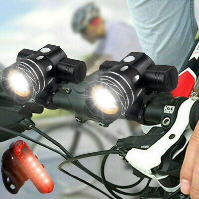 USB Rechargeable 15000LM T6 LED MTB Rear&Front Set Bicycle Lights Bike Headlight • 17.99£