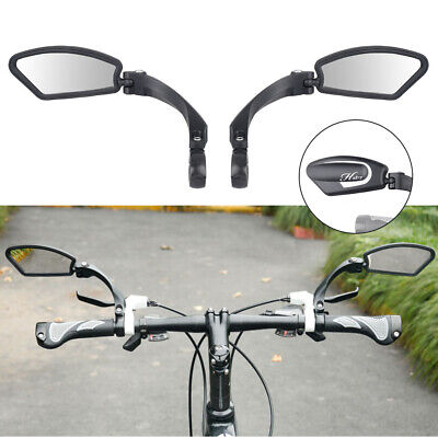 1PAIR Bicycle Bike Cycle Handlebar Rear View Rearview Mirror Rectangle Back UK • 22.99£