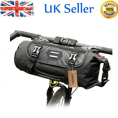 Waterproof Bike Front Tube Bag 3-7L Adjustable Handlebar Basket Pack Pocket Q7O6 • 14.89£