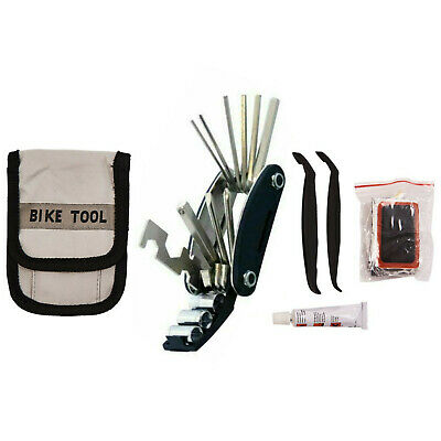Bicycle Repair Tool Kit Wrench Allen Key Hex Tube Puncture Mountain Bike Cycle • 6.99£