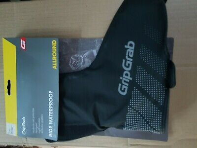 GripGrab Ride Waterproof Shoe Cover Overshoes Black Size L42/43 - 3 Pairs Avail. • 17.50£