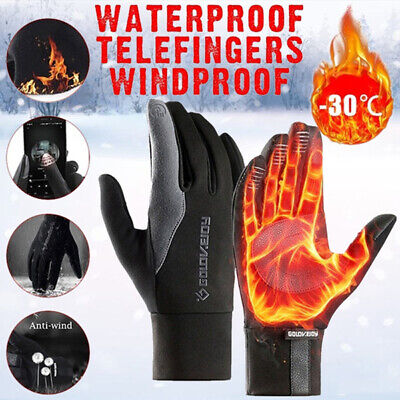 New Unisex Winter Antiskid Touch Screen Thick Warm Full Finger Gloves Motorcycle • 6.99£