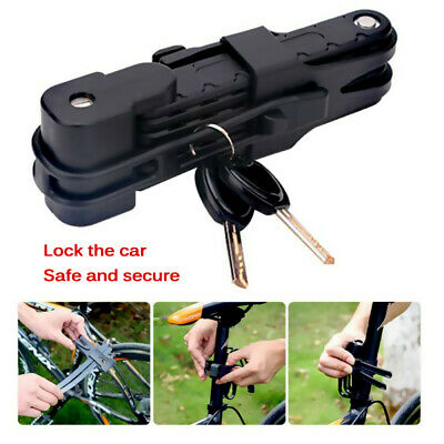 Password Folding Bike Cable Lock Strong Heavy Duty Cycle Security Bicycle Steel • 9.98£