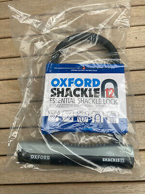 Oxford Bicycle Cycle Bike Shackle 12 With Bracket Black / Grey • 12£