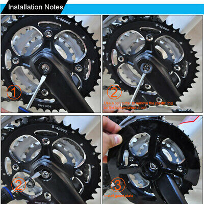 Sprockets Cranksets Bike Chain Guard Cycling Protective Cover Chainring Plastic • 7.76£