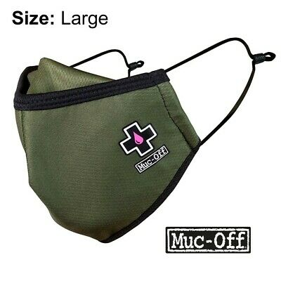 Muc-off - Reusable Face Mask - Green - Size Large - • 5.99£