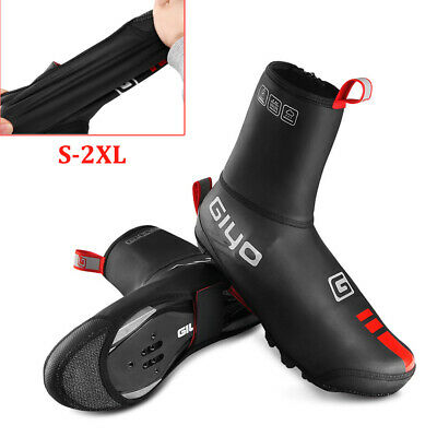 Cycling Overshoes Glossy Waterproof  Windproof Shoe Cover Thermal Winter Warm • 14.99£