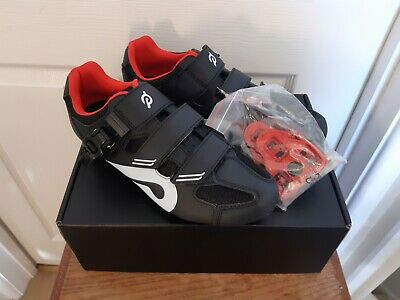 Peloton NEW In Box Cycling Shoes With Cleats Red Black Size EU 42 UK 8 Indoor • 58£