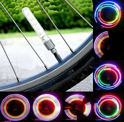 2 X 5 Led Colour LED Neon Car Bike Wheel Tire Tyre Valve Dust Cap Spoke Lights • 3.49£