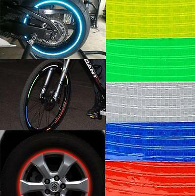 8MM 8 To 32 Pcs Bicycle Bike Motorbike Reflective Rim Tape Wheel Sticker Trim  • 3.49£