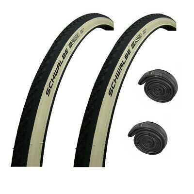 27  X 1-1/4  SCHWALBE Active WHITE WALL Puncture Resistant Roadster Bike Tyre • 34.95£