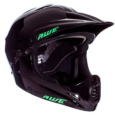 AWE® BMX Full Face Adult Helmet Black Large 58-60cm • 34.99£