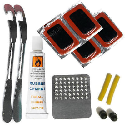 Bike Tyre Tube Bicycle Puncture Patches Glueless Repair Tool Kit Cycle Puncher   • 4.99£