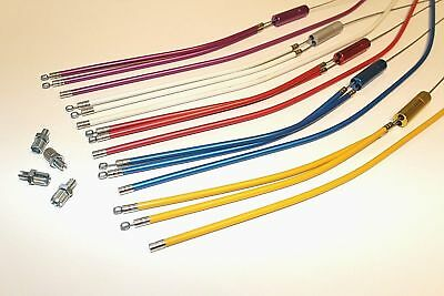 BMX UPPER & LOWER Gyro Brake Cable PAIR! Various Colours. • 6.99£