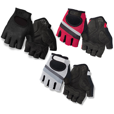 Giro Siv Mitts 2020 Road Cycling Gloves Retro Touring Old School Black White Red • 21.99£
