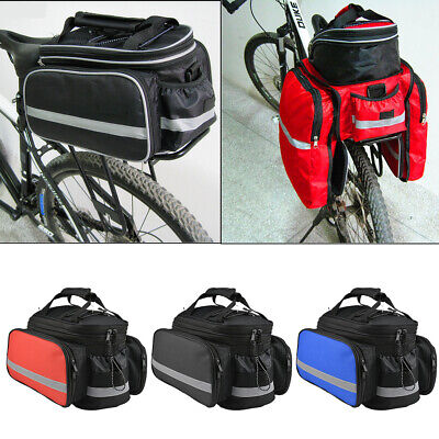 New Large Bike Bicycle Seat Rear Bag  Pannier Rack Pack Shoulder Cycling  UK • 8.99£