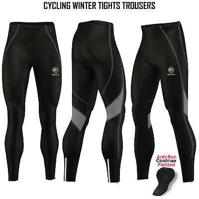 Mens Cycling Winter Tights Thermal Padded Pants Cycle Long Trouser Legging ROXX • 16.99£