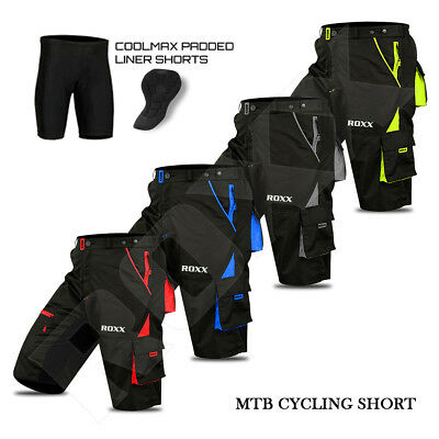MTB Shorts Bicycle Mountain Cycle Off Road Padded Shorts Outdoor ROXX Sports • 24.99£