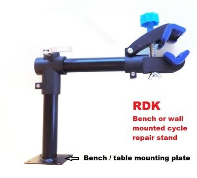 Wall Or Bench Mounted Bike Bicycle Maintenance Repair Work Stand  Tool • 24.95£