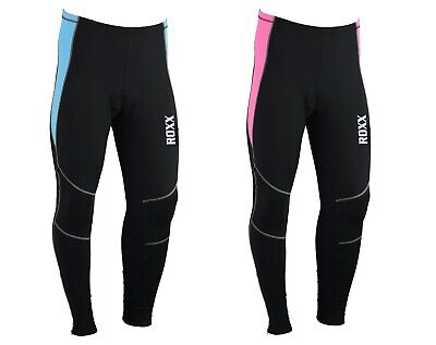 Ladies Cycling Tights Padded Winter Thermal Pants Women Cycle Bicycle Trousers • 14.99£