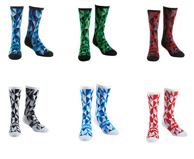 Cycling Socks By Guee. Geometric Print. Race Compression Fit. Breathable. • 7.99£