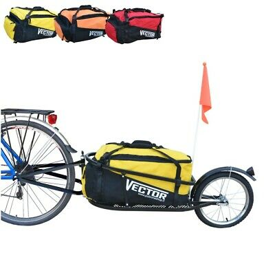 VECTOR Single Wheel Cargo Bike Trailer For Cycling Holidays Luggage With Bag  • 138£