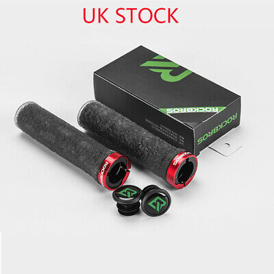 ROCKBROS MTB Road Bike Handlebar Soft Anti-slip Lock On Grips Diameter 2.22cm UK • 7.99£