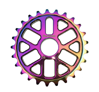 Progression BMX Rainbow Oil Slick Jet Fuel Sprocket 25t • 24.99£
