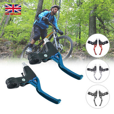 2-finger Mountain Bike Bicycle BMX MTB V-Brake Lightweight ALLOY Brake Levers • 8.89£