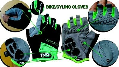Men Cycling Gloves Bike /wheelchair /Bicycle Gel Padded Fingerless Sports TNQ Uk • 6.95£