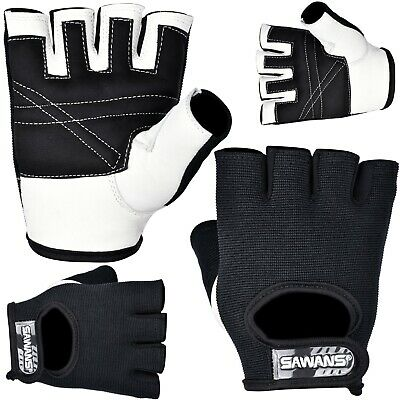 SAWANS Half Finger Cycling Gloves Bus Driving Wheelchair Fingerless Bike Leather • 5.99£