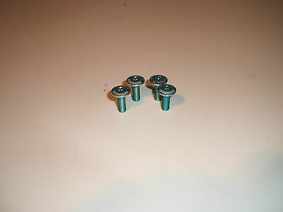 BIANCHI BOTTLE SCREW SET CARBON Ti TORX (4) Celeste And Blue • 25£