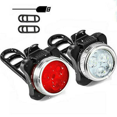 Bike Light Set, Super Bright USB RECHARGEABLE Bicycle Lights, Waterproof IPX4 • 6.99£