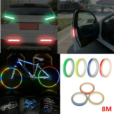 8M Reflective Stickers Hi Vis Viz Safety Car Motorcycle Bike DIY Reflector Tape • 2.35£