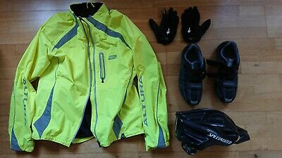 Mens, Cycle Helmet, Gloves, Size 10.5 Cycle Shoes And Hi- Vis Cycle Jacket  • 75£