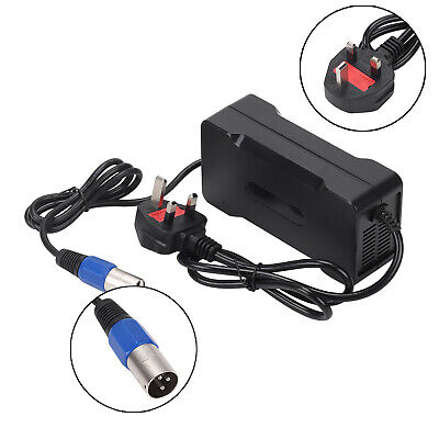 54.6V 4A Output Voltage 48V Lithium Battery Charger For Electric Bicycle UK Plug • 25.99£