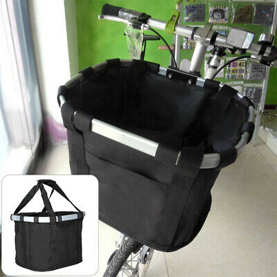 Foldable Bicycle Front Basket Bike Handlebar Basket Pet Carrier Frame Bag • 7.49£
