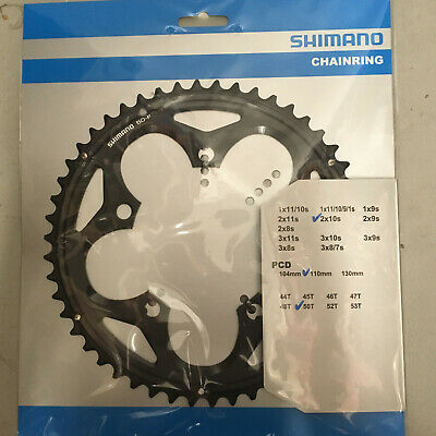 Bike Chain Ring Shimano FC5750 105 Double Outer 50T 10 Speed 110mm Black Silver • 24.99£