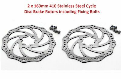 One Pair Of 160mm Bicycle Brake Disc Rotors 160mm Mountain Bike, Jump Bike MTB • 9.95£