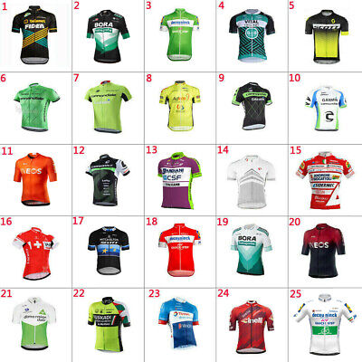 2020 New Mens Team Cycling Jersey Short Sleeve Cycling Short Sleeve Jersey Top • 10.59£