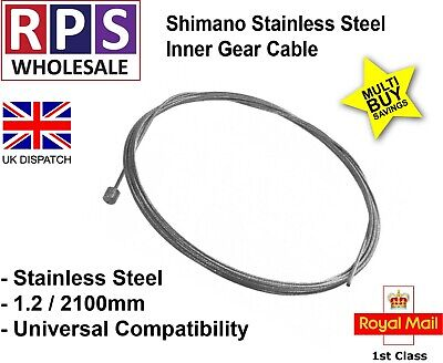 Mountain Bike Gear Inner Cable 1.2mm X 2.1m Shimano Stainless Steel • 2.99£
