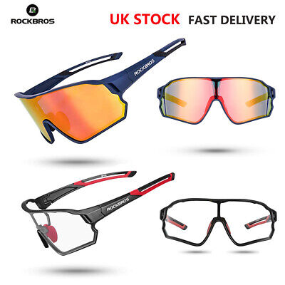 Rockbros Cycling Sunglasses Polarized UV400 Bike Goggles Photochromatic Glasses • 18.99£