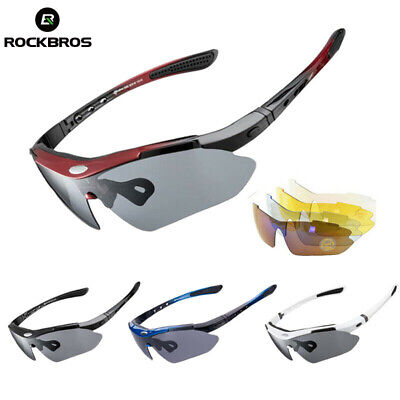 ROCKBROS Cycling Glasses Sports Sunglasses Goggles Polarized Replace Lenses • 12.99£