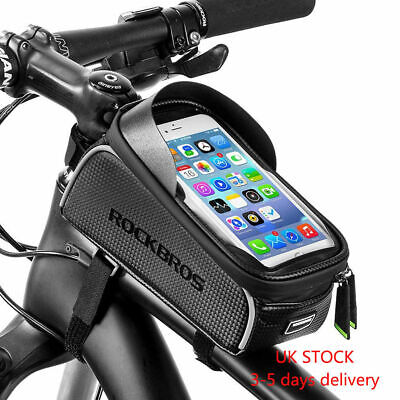 UK RockBros Frame Bag Cycling Waterproof Top Tube Bag Touch Screen Phone 6.0  • 13.98£
