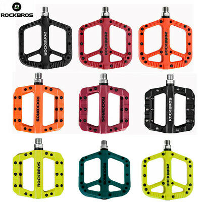 ROCKBROS Bike Pedals Bicycle Pedals Bearing Wide Nylon Pedals Platform UK STOCK • 20.99£
