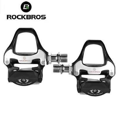 Rockbros Bicycle Pedals For SPD-SL System Bike Self-locking Pedals UK STOCK • 27.99£