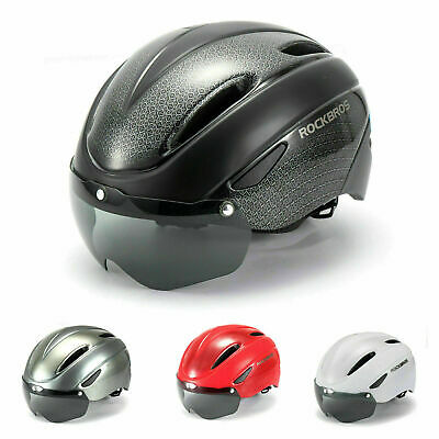 ROCKBROS Bike Helmet EPS Breathable Safety Helmet With Magnetic Goggles UK STOCK • 21.99£