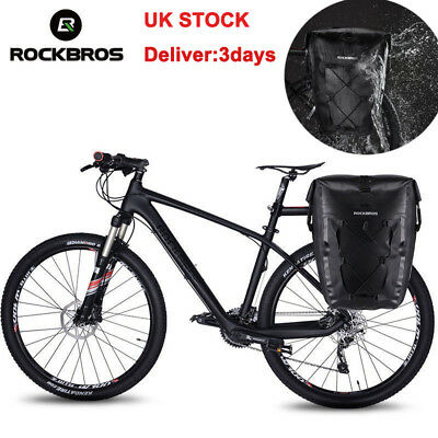 ROCKBROS Waterproof Cycling Pannier Bag Travel RearSeat Carrier 18/27L UK STOCK • 35.99£