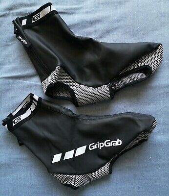 GripGrab Black White Logo Waterproof Overshoes Shoe Cover Size XL - Good Used • 29.99£
